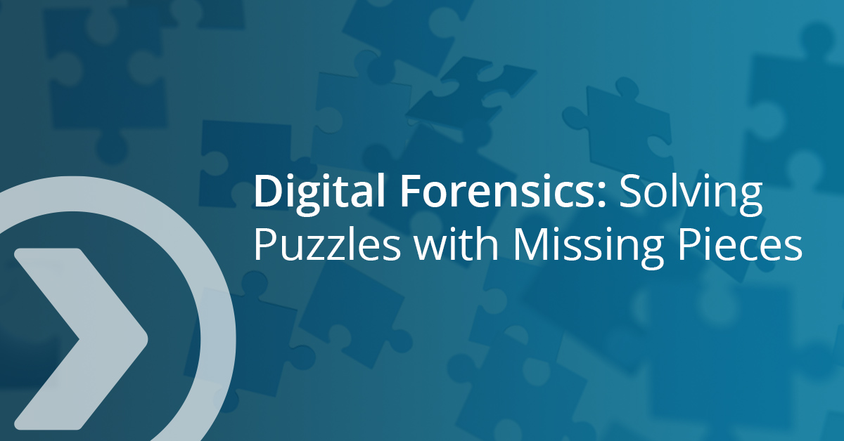 Falling puzzle pieces with text Digital Forensics: Solving Puzzles with Missing Pieces